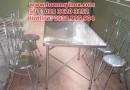 Bàn ghế inox giá rẻ, bàn ghế inox 304, ghế inox 304, ghế inox tròn giá rẻ