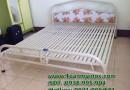 Giường sắt inox, giường sắt 1m4, giường sắt đẹp, giá giường sắt, giường sắt đôi
